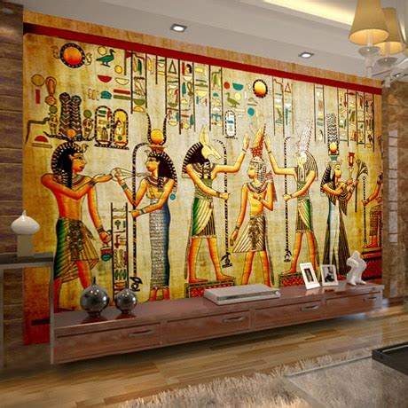 buy mural egyptian figures large mural