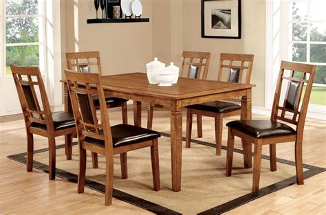 Freeman I Light Oak 7 Piece Dining Room Set From Furniture Light Oak Dining Room Sets