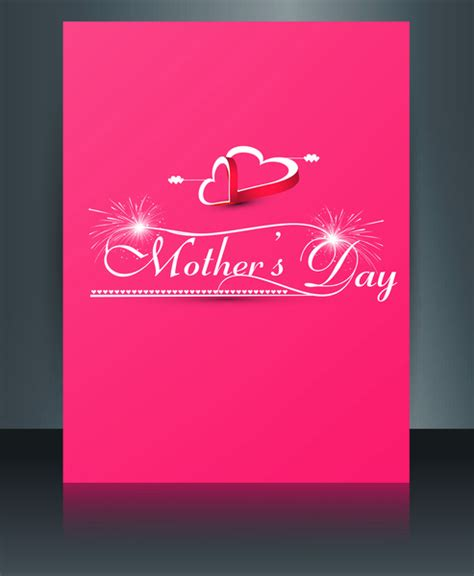 adobe illustrator s day card template beautiful mothers day template brochure card reflection
