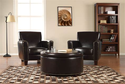 living room chair with ottoman living room wonderful living room ottoman ideas with black storage ottoman leather also