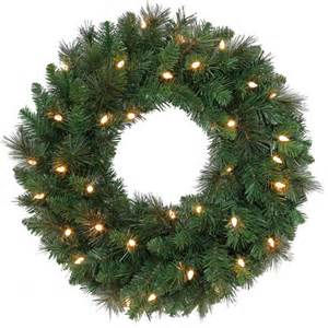 holiday time pre lit christmas wreath walmart com