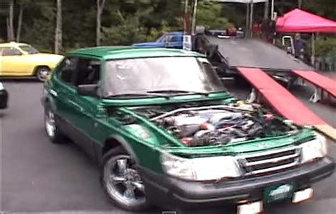 saab 900 with a 5 0l v8 supercharged mustang motor