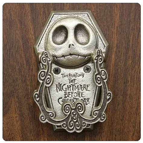jack skellington home decor nightmare before christmas jack bite pewter door knocker