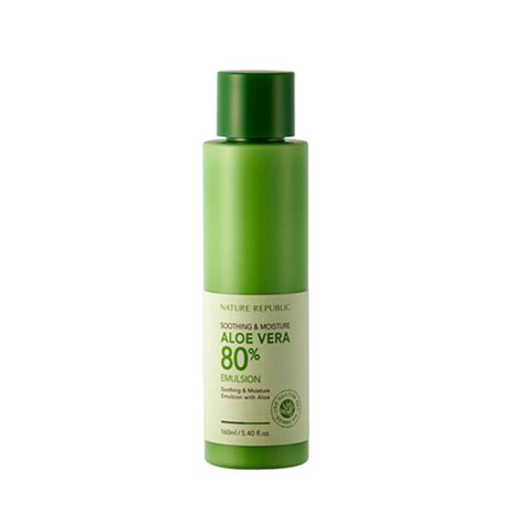 Nature Republic Soothing Moisture Aloe Vera Emulsion Review nature republic soothing moisture aloe vera 80