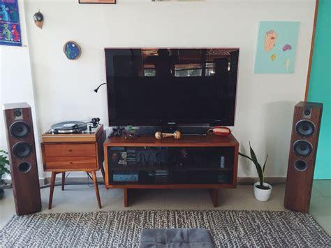 bedroom stereo system thorens td 160 turntable focal chorus 714 rega brio r hifi