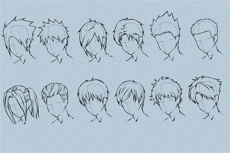 anime hairstyles for guys how to draw anime hair 187 vripmaster