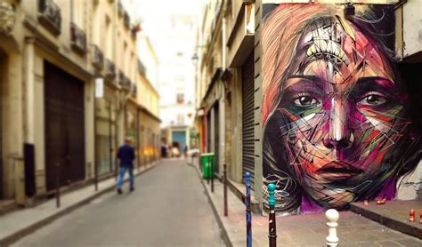 Huge Wall Murals hopare creates a beautiful mural in paris france