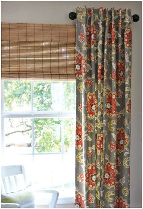 Short curtain rods either side window