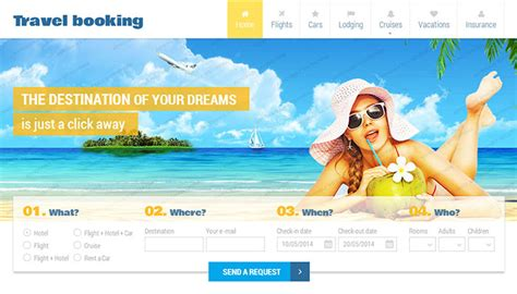 flight booking template 40 best travel website html templates templatemag