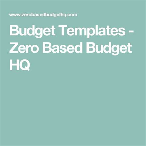 zero based budget template 106 best images about money on