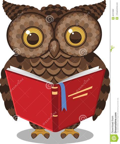 owl reading book owl reading book stock illustration image 46721889