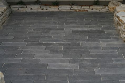 Patio Pavers That Look Like Wood Are These Pavers Or A Concrete St Or Something Else