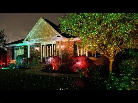 review star shower outdoor laser christmas lights star