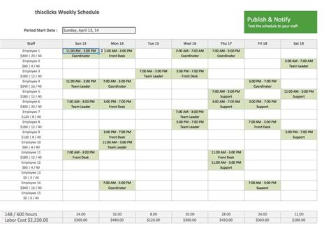 Weekly Employee Shift Schedule Template Excel And Weekly Work Schedule Template Job And Resume Monthly Employee Shift Schedule Template