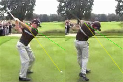 start golf swing with right shoulder downswing