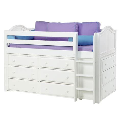 Beds And Dressers by Box Low Loft Bed With Dressers Rosenberryrooms
