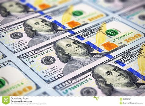 100 Dollar Mba Books by New 100 Us Dollar Banknotes Royalty Free Stock Photography