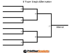 Blind Double Blind Printable Volleyball Tournament Brackets Single Amp Double