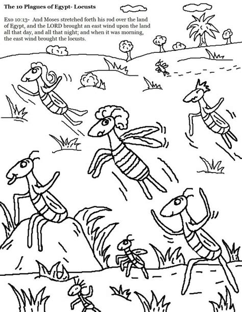 plague of frogs coloring page 20 best moses plagues of egypt images on pinterest
