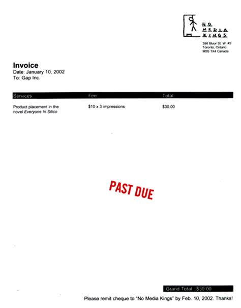 Overlooked Invoice Letter Invoice Past Due Letters
