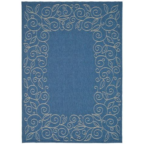 Outdoor Rugs Blue Home Decorators Collection Martine Blue Beige 8 Ft X 11 Ft Area Rug 1598540310 The Home Depot