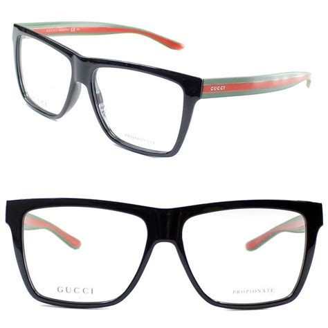 gucci eyeglasses gg 1008 51n 55mm shiny black green