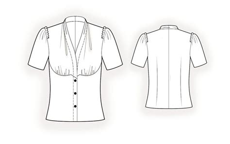 blouse sewing pattern 8004 made to measure sewing blouse sewing pattern 5990 made to measure sewing