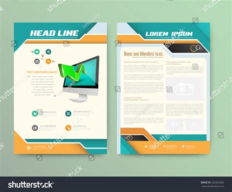 abstract vector brochure template flyer layout flat