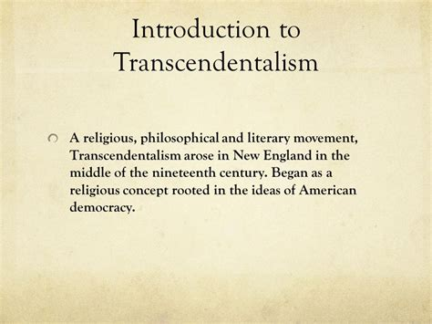 themes of transcendentalism literature literary period transcendentalism by katelyn brook ppt