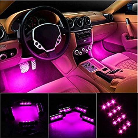 Pink Interior Car Lights by Pink Car Interior Neon Lights Styling Interior
