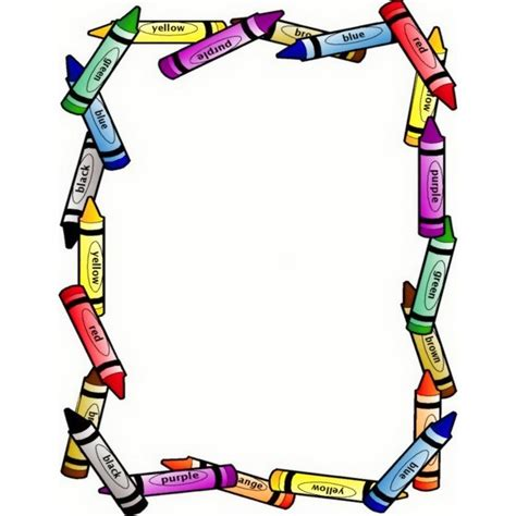 Cool Frame by Crayon Border Clip Art By Dianne J Hook Clipart Best