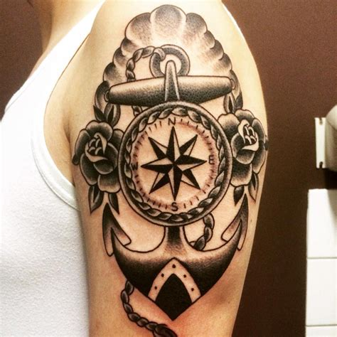 compass anchor tattoo compass anchor arm