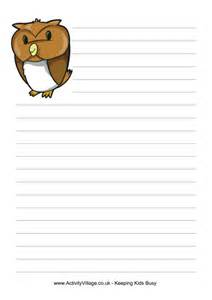 Owl Essay Writing by Owl Writing Paper