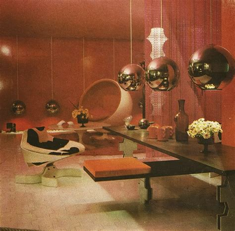70s style decor inspirational retro futuristic living room ideas vintage