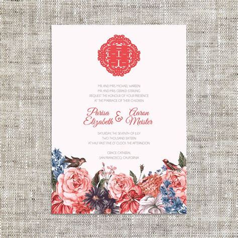 asian wedding card template diy printable editable wedding invitation card