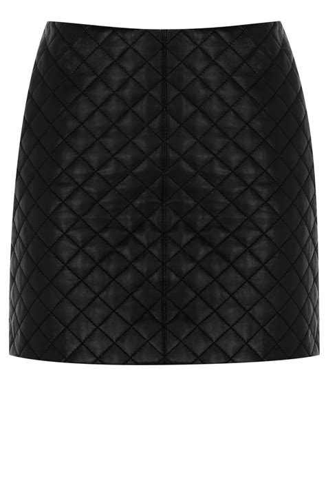 quilted leather skirt black oasis stores