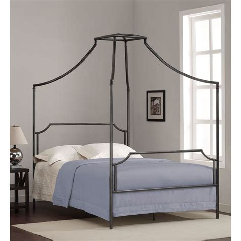 Metal Frame Canopy Bed Bailey Charcoal Size Canopy Bed Frame By I Living Metals And Charcoal