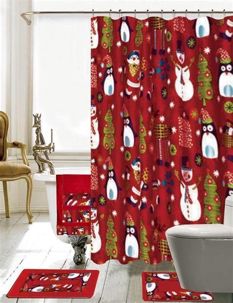 holiday bathroom decor sets daniels bath christmas bathroom decor 18 piece shower