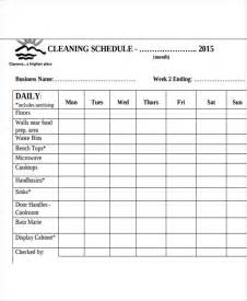 Restaurant Schedule Template by 6 Restaurant Cleaning Schedule Templates 6 Free Word