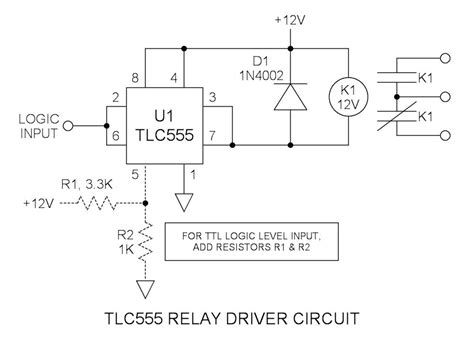 transistor driver circuit for relay به قلم جمعی ازمهندسان برق شیراز شهر راز 555 tlc555 relay driver circuit