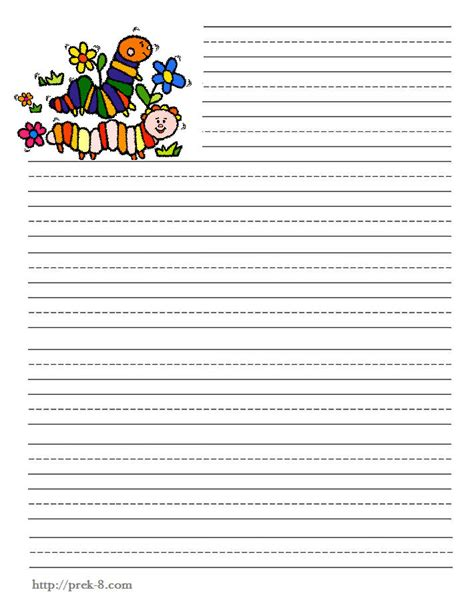 printable animal lined paper blank writing paper for first grade 9 best images of