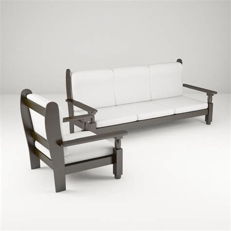 wooden sofa models wooden sofa 3d model by bhatem 3docean