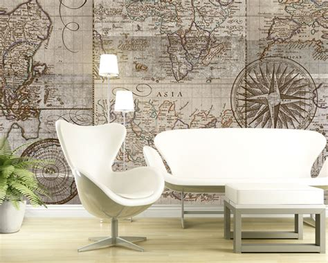 contemporary wallpaper murals for renters dorms