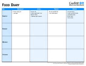 food calendar template search results for food journal templates free