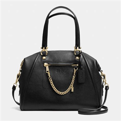 Coach Leather Satchel by Coach Prairie Pebled Leather Satchel In Black Lyst