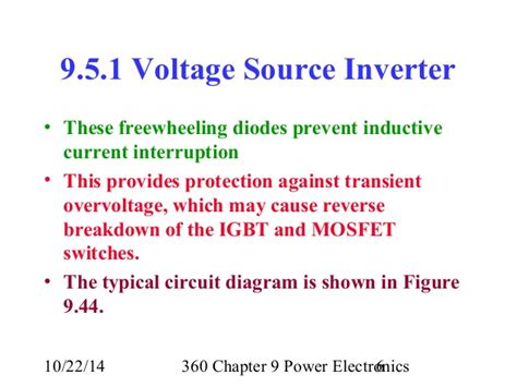 freewheeling diode current lecture 28 360 chapter 9 power electronics inverters