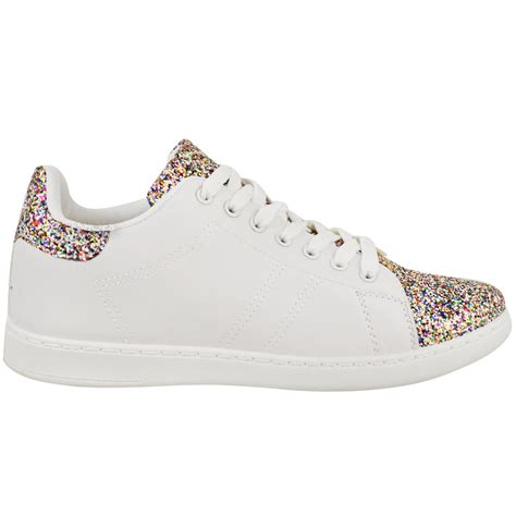 lace up flats shoes womens flats lace up low top trainers glitter pumps