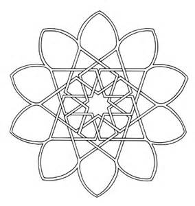 free islamic geometric coloring page 10 point star