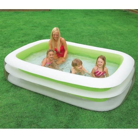 piscine gonflable 37 intex piscine gonflable enfant rectangulaire family 262 x