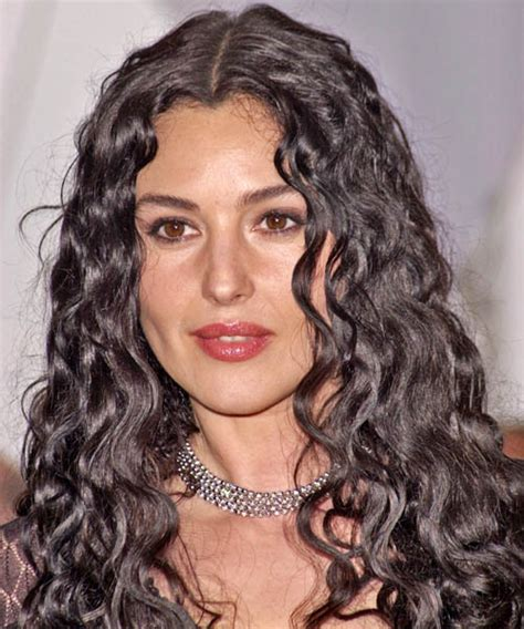 how to style short wavy cut like monica potter monica bellucci long curly casual hairstyle